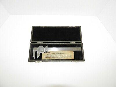 Vintage L.s. Starrett No.122 6 Inch Vernier Caliper In Wooden Case