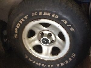 Jeep winter tires on rims