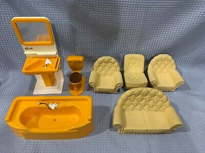 Vintage Sindy Doll House Living Room Bathroom Furniture Pieces Accessories #688