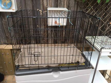 36'Dog Pet Cage Kennel Cat Collapsible Metal Crate Tray 3 Doors