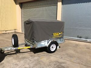 SALE! H/D Camping 6x4 Trailer with 900mm Cage and Canvas Cover
