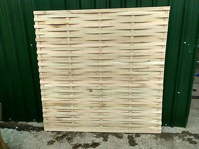 Solid Oak Woven Fence Panels