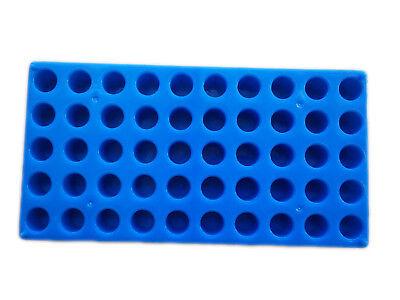 Vial Rack Single Blue Holds 50 Standard 12 Mm 2 Ml Vials Stackable Tube Rack