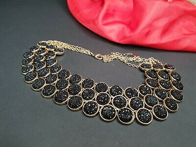 Old Black & Gold Choker Necklace a Striking Piece …beautiful accent piece