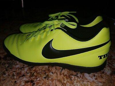 92666fde0a0 Nike Air Tiempo X Neon Black Soccer Casual Sz 10 819237-707 NEW