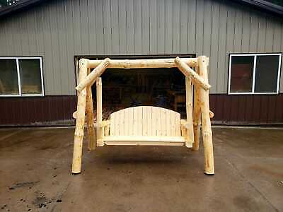 Log Swing Giant Size! Best built  Large Diameter logs contoured seat 3