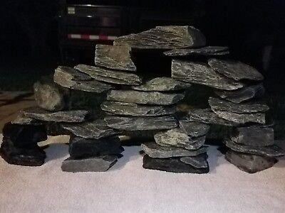 27+ lbs of Natural Slate Decor Rock Cave Fish Tank/Aquarium,Crafts,Aquascape