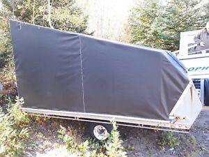 Covered double skidoo trailer