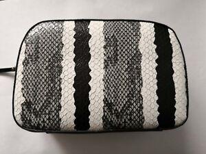 New! Estee Lauder Leather Cosmetic Makeup Bag Case