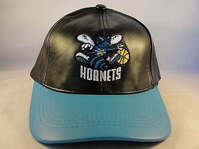 New Orleans Hornets Leather (New Orleans Hornets NBA Adidas Leather Snapback Hat)
