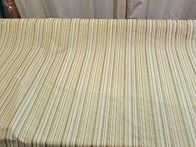 "Stripe Multicolor Upholstery Home Decor By the Yard Designer Fabric 54"" Wide"