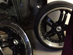 Pair 20inch feirro 5x120 commodore mags Nankang tyres $100 pair Lawnton Pine Rivers Area Preview