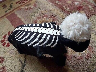 BLACK DOG SKELETON BONES COSTUME SIZE S. FANCY DRESS FREE UK P&P