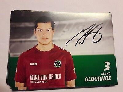 Signierte AK Miiko Albornoz  Hannover 96 NEU 18/19