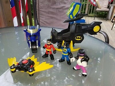 Imaginext DC BatCopter, Batman, Helicopter, Claw Catcher, robin joker motorcycle