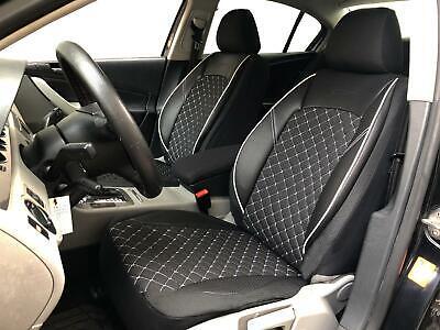 Sitzbezüge Schonbezüge Mercedes GLK-Klasse schwarz-weiss V1322466 Vordersitze