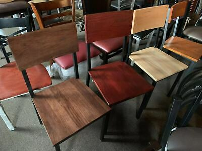 New Restaurant Wood Metal Chairs In Mahogany Walnut Cherry Natural Color