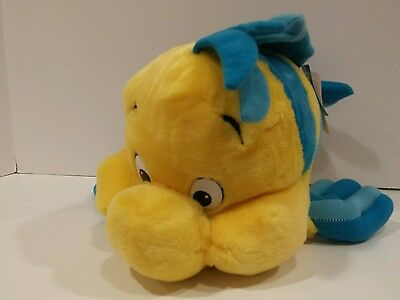 "Disney The Little Mermaid 12"" FLOUNDER Plush Stuffed Animal w/Tags"