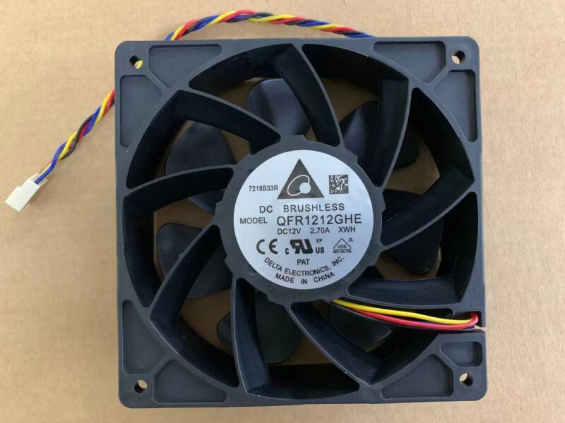 Delta QFR1212GHE 6000 RPM Fan DC12V 2.70A 4-wire For Antminer S7,S9,D3,L3+,E9+