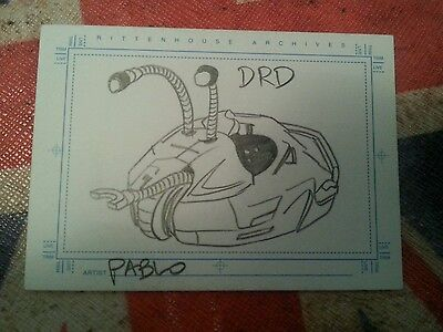 FARSCAPE SKETCH TRADING CARD DRD BY PABLO SKETCHAFEX