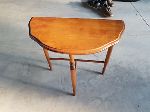 Half-moon antique table