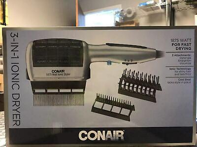 Conair 3-σε-1 Styling Στεγνωτήρας Μαλλιών 1875 Watt με Ionic Technology και 3 Attach ...