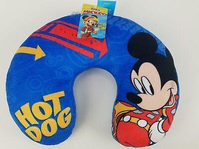 Junior Travel Pillow (Kids Travel Neck Pillow Disney Mickey Mouse New! Hot Dog Blue Junior)