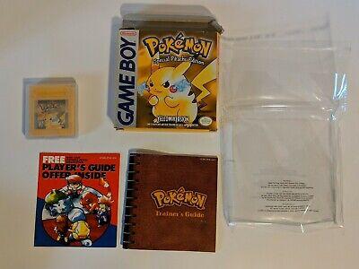 Pokemon Yellow Version (Nintendo Game Boy)  Complete Authentic Box Manual