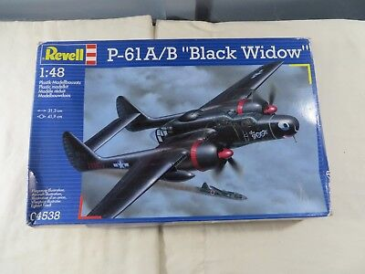 Revell 1:48 P-61A.B Black Widow Model Kit 04538 Open Box , used for sale  USA