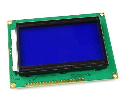 Glcd 12864 - Graphic Lcd 128 X 64 Pixel - Blue-white - St7920 - Parallel Or Spi