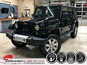 2015 Jeep Wrangler Unlimited SAHARA*2 TOITS*NAV*LIFT KIT 3''*DÉM