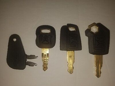 4 Catipillar Keys Heavy Equipment Dozer Excavator Dozer Cat Key Set