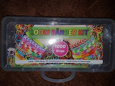 LOOM Bänder KIT Coole Armbänder für Kids zum selber gestalten^^ ()