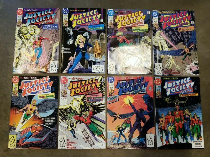 Justice Society of America (1991) #1 2 3 4 5 6 7 8 - Fine - Set lot of 8, A