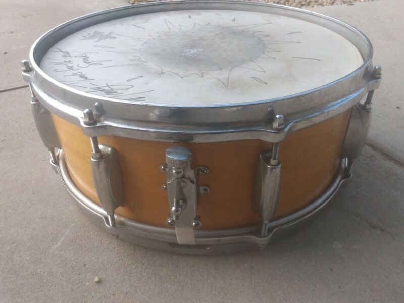 "Rare Vintage 1960s Gretsch Sound Snare Drum With Adjustable throw off 14""~Xlnt**"