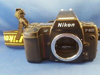 Nikon F-801  35mm AF SLR Film Camera body Black Japan film tested & working