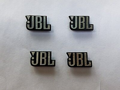 4 Pieces JBL Logo Emblem Badge - Self Adhesive Small Size , USA Seller