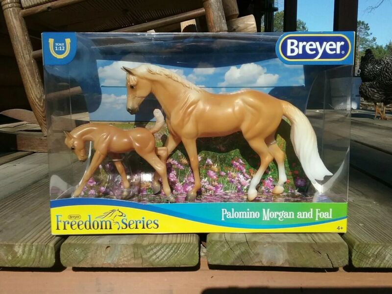 Breyer Palomino and Foal Classics Collection #62045 1:12 Scale ~ NIB