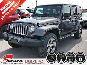 2018 Jeep Wrangler JK Unlimited SAHARA*GPS*CUIR*BLUETOOTH*