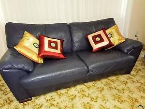 Sofa three seater Italian leather and two reclining armchairs Palm Beach Gold Coast South Preview