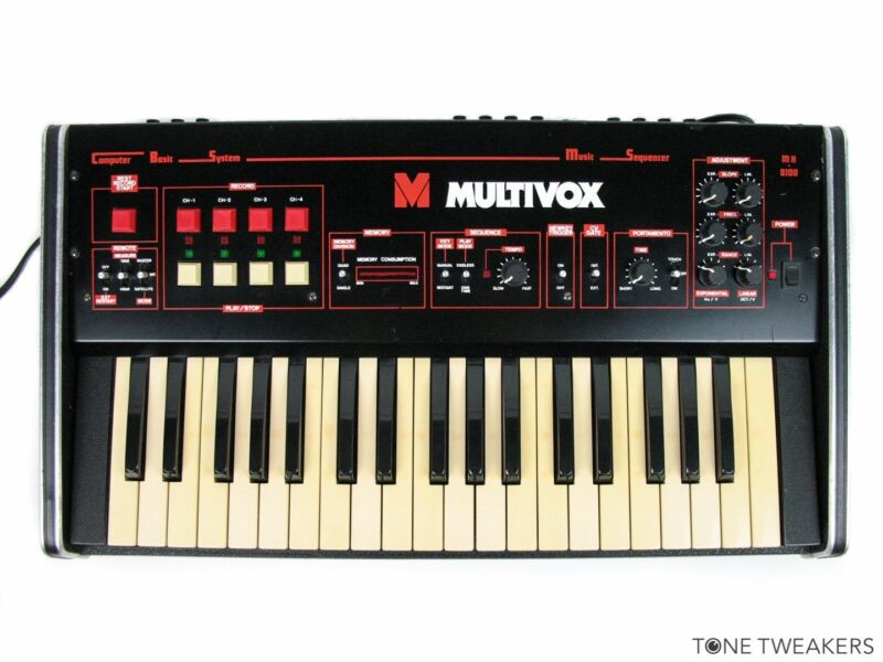 Details about MULTIVOX MX8100 Rare CV Gate Sequencer Keyboard Synthesizer  VINTAGE SYNTH DEALER