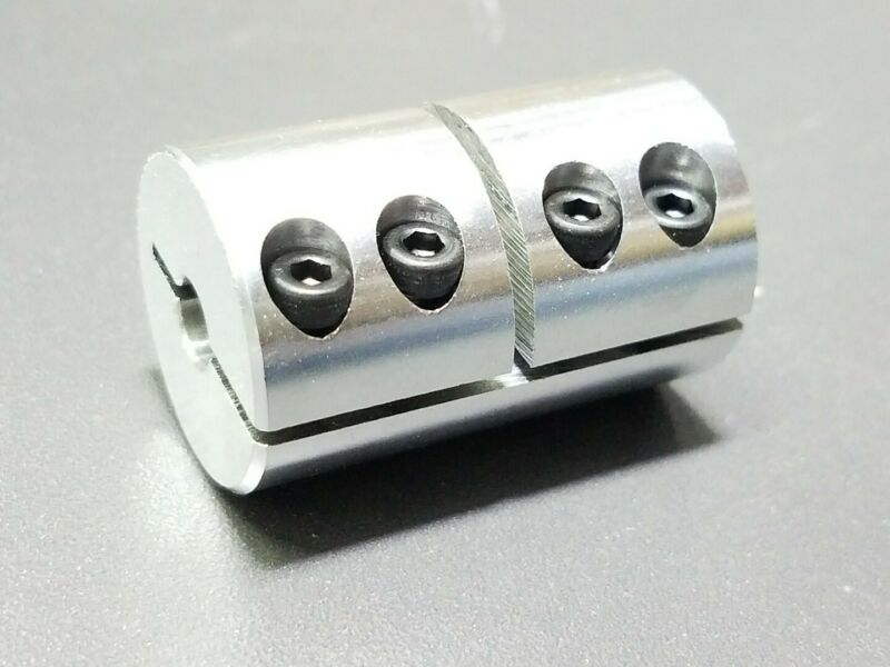 "1/4"" X 3/8"" Rigid Clamp Shaft Coupling Double Length CNC Mill Stepper Nema 23"