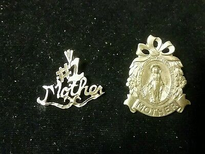 Mother Mary Pray For Us pin  Sterling
