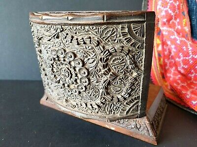 Old Oriental Carved Wooden Box …beautiful display item