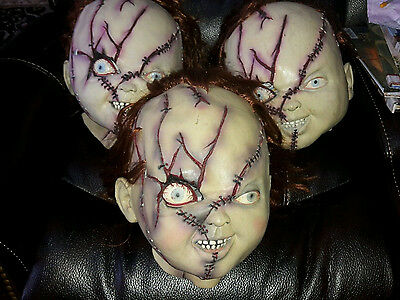 Chucky Mask Bride of Deluxe Costume Child's Play Vintage Collectible Mint - Chuckie Mask