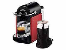 Nespresso Pixie Coffee Machine with Aeroccino - Carmine Red Epping Ryde Area Preview