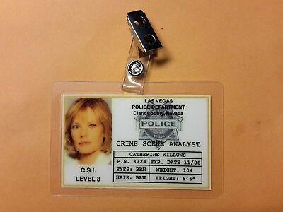 Csi Las Vegas TV Show Id Abzeichen - Catherine Willows Requisite Cosplay - Las Vegas Shows Kostüm