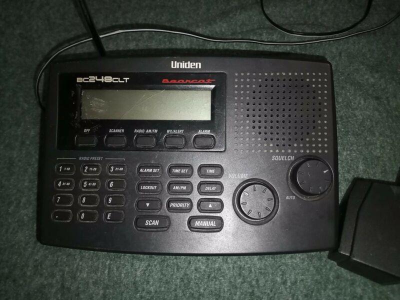 Uniden Bearcat BC248CLT Scanner Police Fire EMS AC Adapter & Antenna