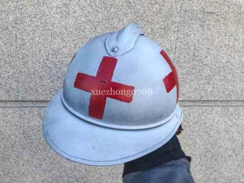 WWI WW1 FRANCE ARMY MILITARY MEDICS HELMET Adrian Helmet AIRBORNE HAT HELMET