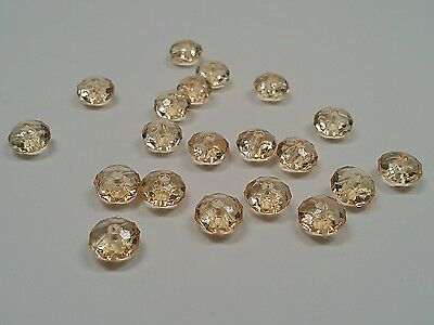 Transparent Acrylic Beads, Faceted Abacus, Coffee color, Qty 50 -8mm, Hole1.5 mm